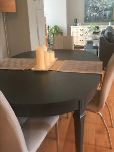 Condo size restored dining table. Seats 4-6. $200