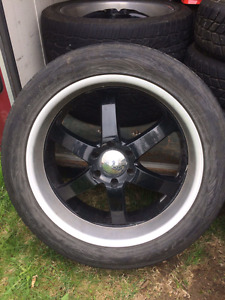 22inch boss wheels and tires . 6bolt chev