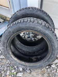 2x pneus d'hiver 205/55R16 91s Firestone Winterforce