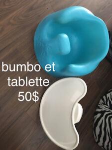 beau bumbo avec tablette 50$ comme neuf