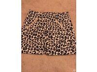 SIZE 10 New Look leopard print skirt