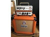 Orange Micro Terror 20 watt head and 8 inch matching cab