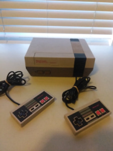 Nintendo with 2 Controllers