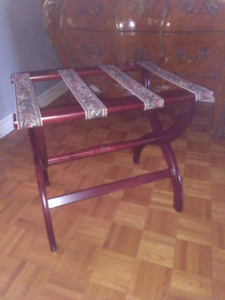 Luggage tray bench table banc