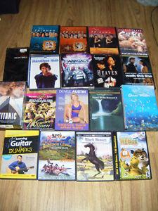18 dvds plus 3 vhs for sale