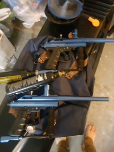 Great paintball guns. 2 sets. Includes some gear such as mask.
