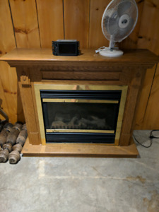 Electric fireplace heater.