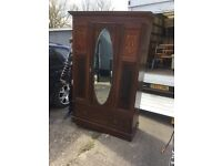 Antique inlay French style wardrobe