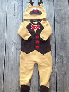 Reindeer Costume / Sleeper - 6-12 months