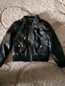 Girls H&M Faux leather jacket size 4-5