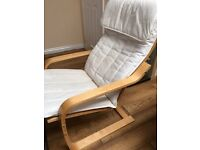 Ikea Rocking chair - pine with white cover