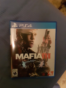 For sale PS4 games Mafia III and grand theft auto