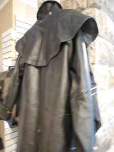 "Leather ""mantracker style"" coat @recycledgear.ca Kawartha Lakes Peterborough Area image 7"