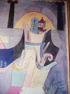 """Lithograph by Paul Klee """"Black Columns In A Landscape"""" 1919 Stratford Kitchener Area image 9"""