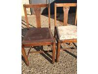 Pair Vintage Chairs