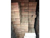 Old coal house full of paving blocks. Size 200mm x 100mm x 80mm.