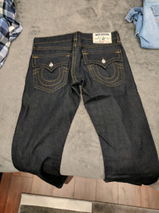 Mens true religion jeans and cargo shorts
