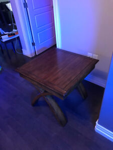 Stained Wood Side End Table
