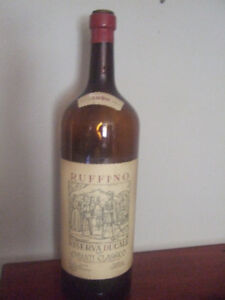 vintage ruffino 5 litre wine bottle-1980