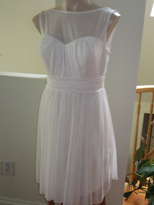Soft blush - illusion sweetheart neckline cocktail dress Size 12