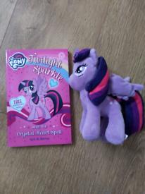 Brand new My Little Pony Twilight Sparkle book & soft toy
