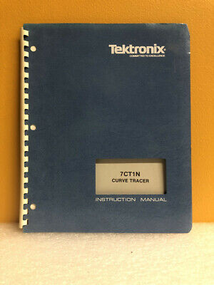 Tektronix 070-1247-00 7ct1n Curve Tracer Instruction Manual