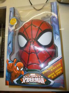 Spider Man Mask Head Face 3D Deco Wall LED Wall Light - MIB