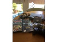 SONY PLAYSTATION 1 WITH 2 OFFICAIL CONTROLS NEW MEMORY CARD ALL LEADS AND 4 GOOD GAMES £40