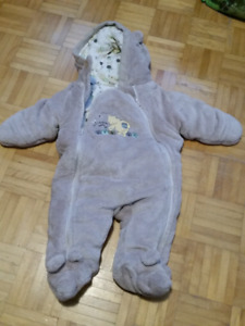 3-6 month fleece suits