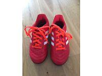 kids size 11 adidas football trainers