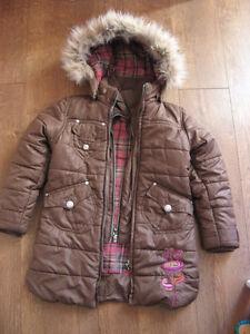 Manteau d'hiver 5 ans fillette avec mitaines