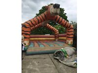 20 ft by 20 ft. Bouncy castle home use only