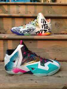 Deadstock Nike Lebron 11 Premium 'What The' - Size 10.5