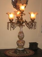 lampe,antique,antiquité,vintage,bronze,porcelaine,ancienne