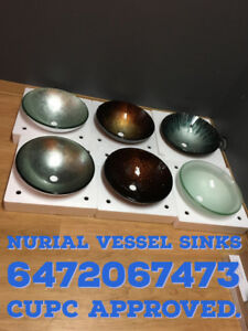 GLASS VESSEL SINK TALL FAUCETS TAPS  LAUNDRY CABINETS MIRRORS
