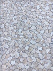 Lino/ vinyl pebble effect