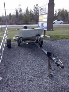 2011 Ultracraft and motor and trailer $2,195.00