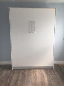 """Murphy Bed / Ecowallbed """"Single, Classic White"""""""
