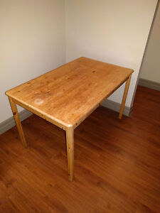Small pine dining table