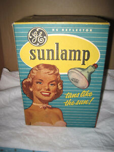 Vintage 1950's GE General Electric Sunlamp Tanning Bulb & Box