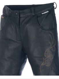 Leather ladies motorcycle trousers. Richa Montana