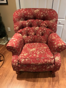 Beautiful Pattern Wing Back Chair