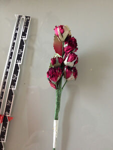 minature red rose crafting flowers Strathcona County Edmonton Area image 1