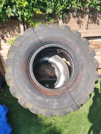 Large tractor tyre heavy, gym workouts 85kg
