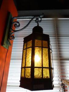 Antiquité, Lampe en Laiton(Brass), Fixture Électrique