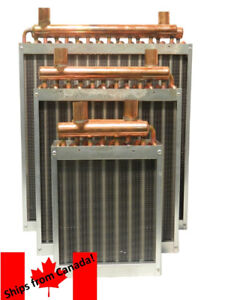 Water to air heat exchanger, heating wood boiler