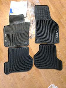 All season floor mats for a VW Golf