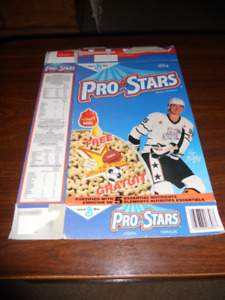 Wayne Gretzky Pro Stars Collector Cereal Boxes