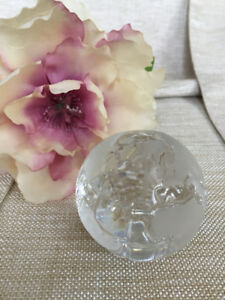 "GERMAN LEAD CRYSTAL ""GLOBE"" PAPERWEIGHT"
