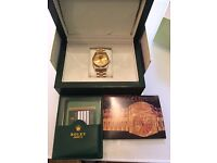 Rolex Oyster Just Date watch gold automatic 36mm